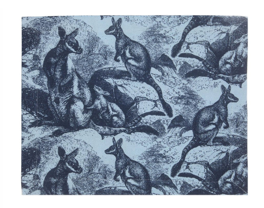 Rock Wallaby Placemat - Indigo