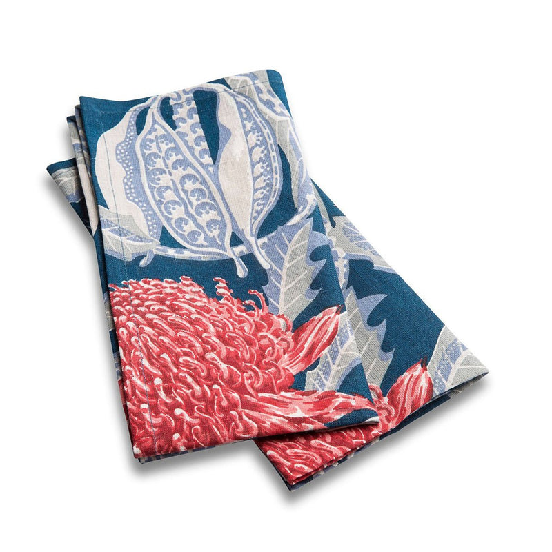 State of Waratah Heritage Light Weight Napkins Set of 2