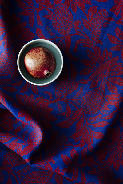 100% Linen Tablecloths, Banksia - Red