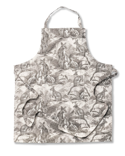 Wallaby Grey Cotton Poplin Apron