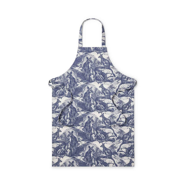 Wallaby Navy Blue Apron