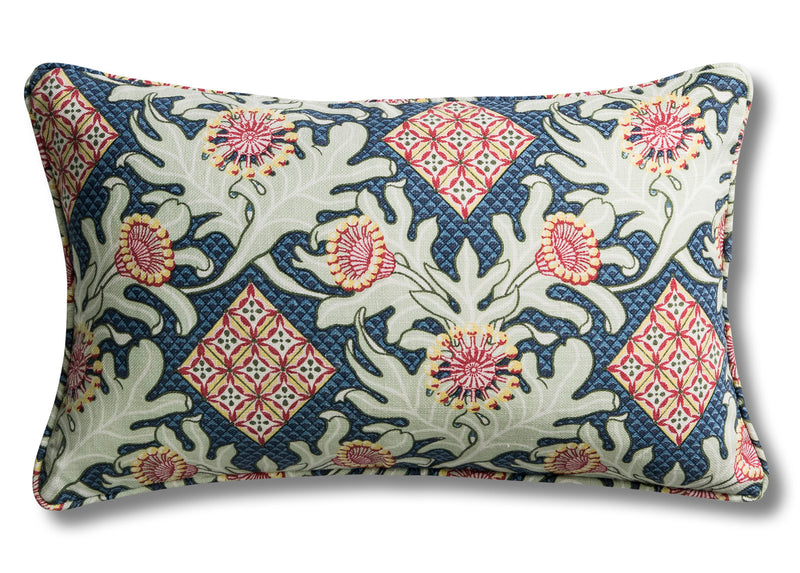 Firewheel Trellis Royal Cushion Cover – 30 x 50