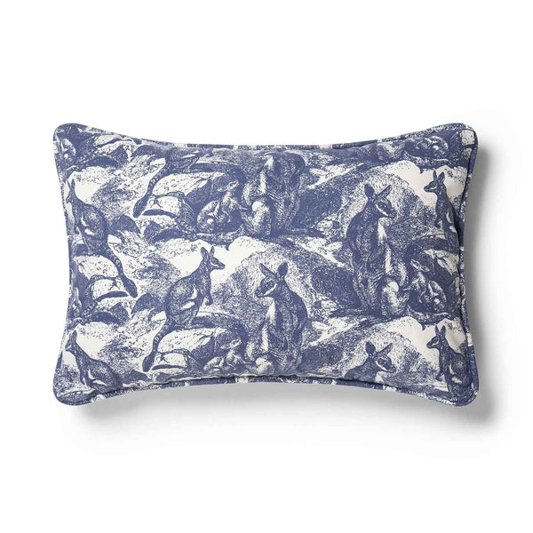 Wallaby Navy Blue 40x60 Cushion Cover