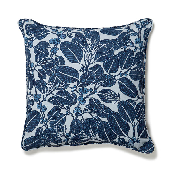 Stringybark Indigo Light Weight 50x50 Cushion Cover