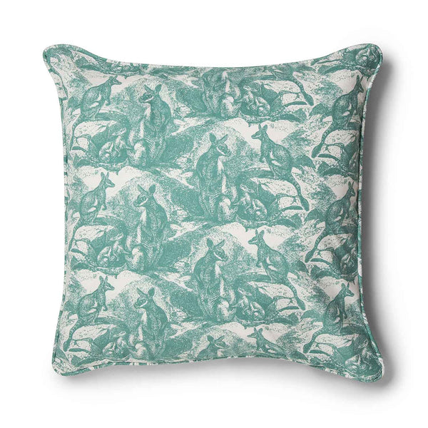 Wallaby Sea Green 70x70 Cushion Cover