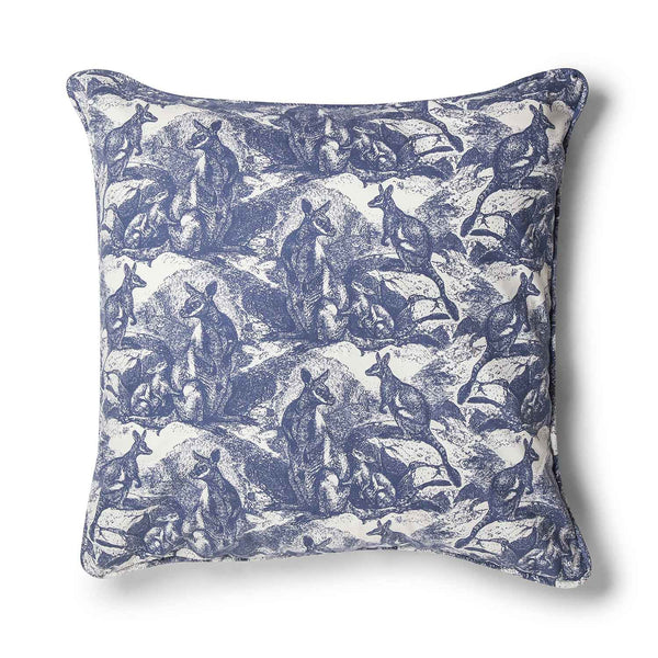 Wallaby Navy Blue 70x70 Cushion Cover