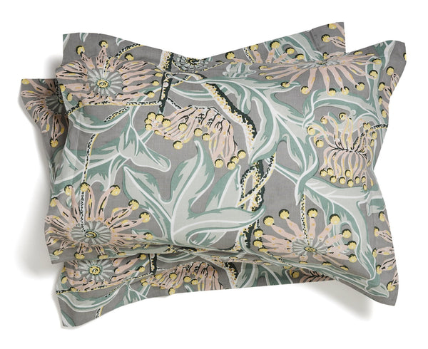 Firewheel Grey Pillowcases