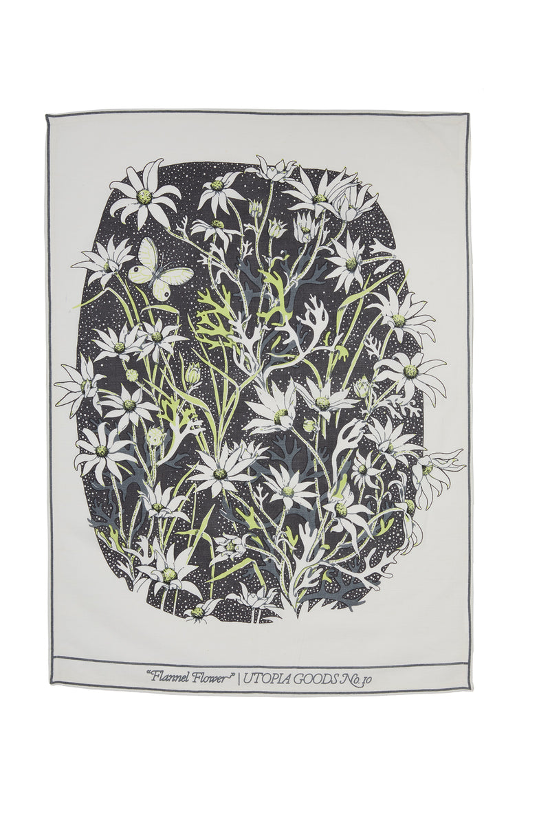 Flannel Flower Teatowel No.1