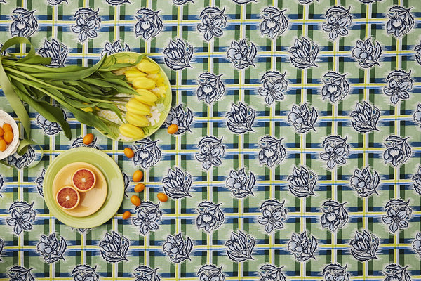 Madras Garden Tablecloth