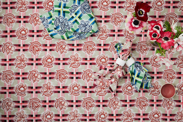 Madras Plum Tablecloth