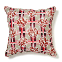 Madras Plum Cushion Cover – 50 x 50