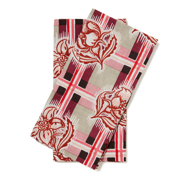 Madras Plum Napkins