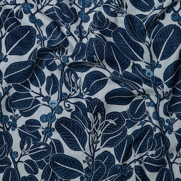 Stringybark Indigo Heavyweight Linen