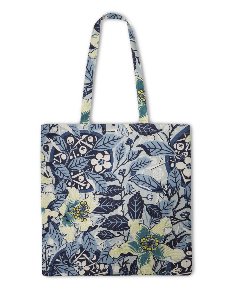 Native Hibiscus Ocean Heavyweight Linen Tote Bag