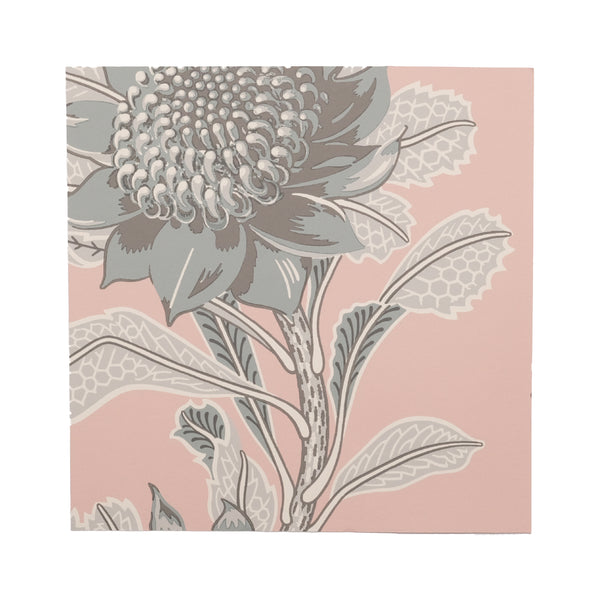 Imperial Waratah Pink 20cm Wallpaper Swatch