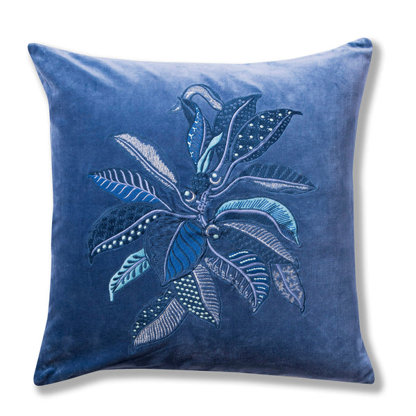 Fig Blue Velvet Cushion Cover – 50 x 50