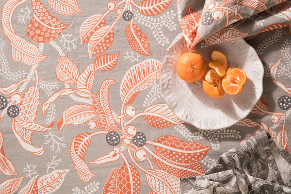 Fig Grey Cotton/Linen Blend Tablecloths
