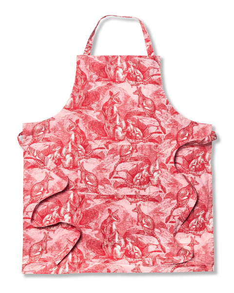 Wallaby Pink Cotton Poplin Apron