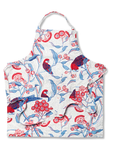 Rosella Red Cotton Poplin Apron