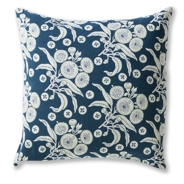 Native Posy Blue Heavyweight 60 x 60 cushion Cover