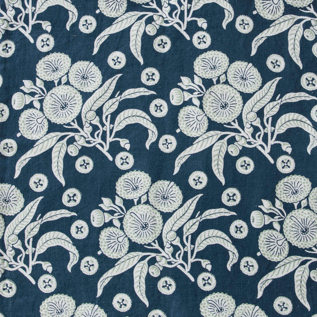 * Native posy Blue Furnishing Linen