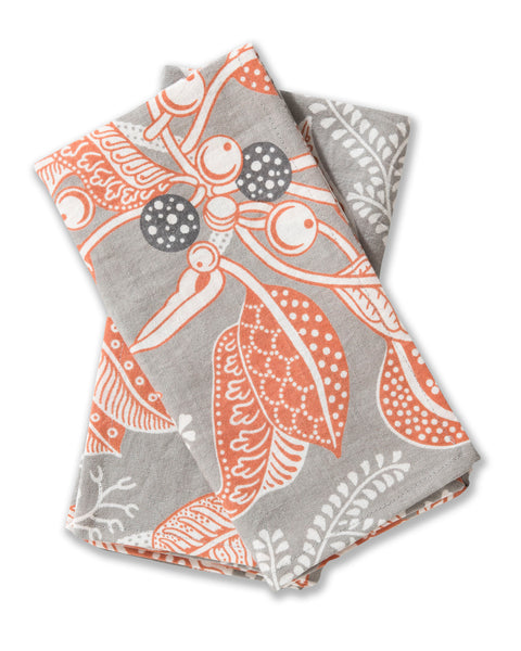 Fig Grey Linen/Cotton Set of 2 Napkins
