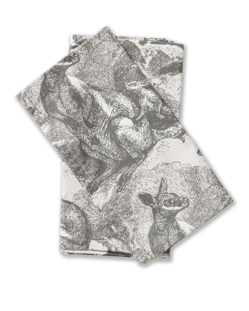 Wallaby Grey Cotton Poplin Set of 2 Napkins
