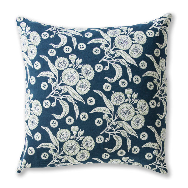 Native Posy Blue Cushion Cover – 50 x 50