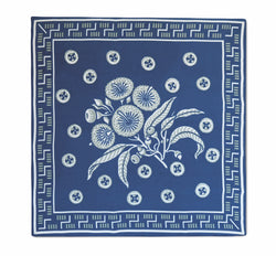 Native Posy Blue Silk Twill Neckerchief