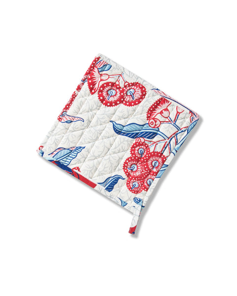 Rosella Red Cotton Poplin Pot Holder