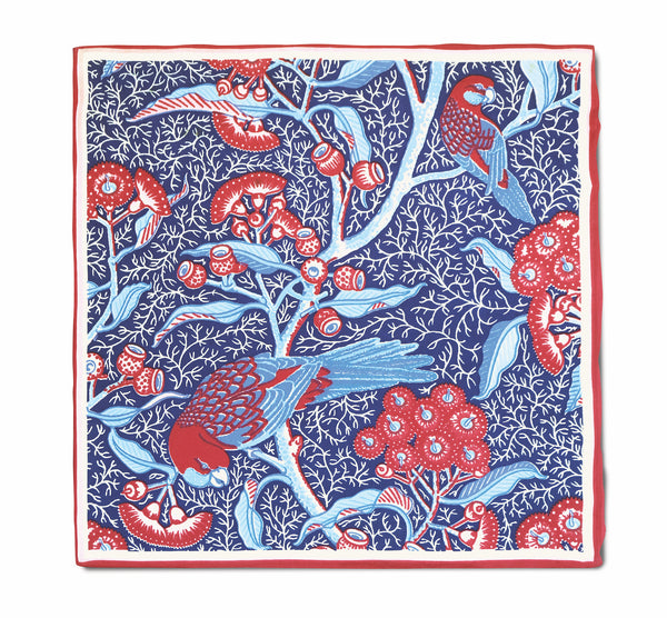 Rosella Red Silk Twill Neckerchief