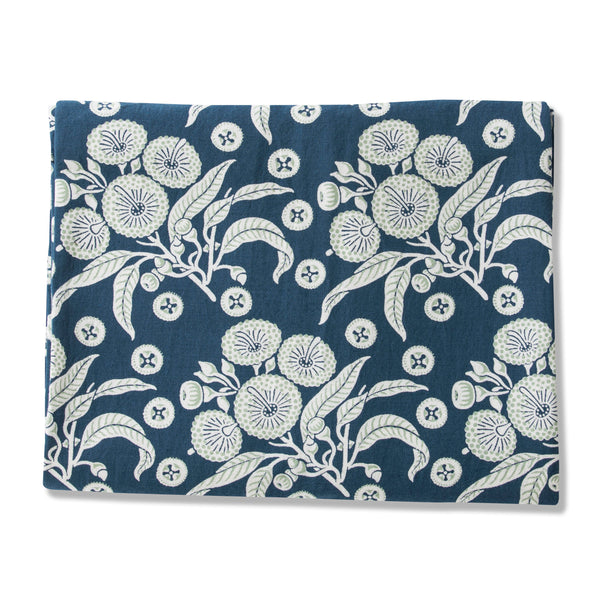 Native Posy Blue Linen/Cotton Tablecloths
