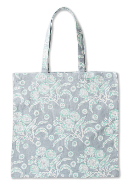 Native Posy Grey Pure Linen Tote Bag