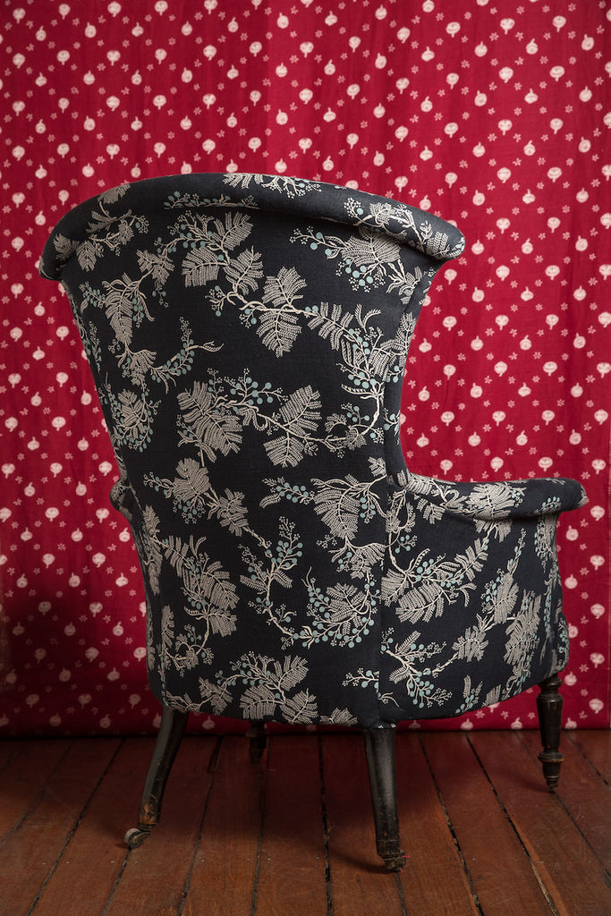 Black Wattle Indigo French Armchair
