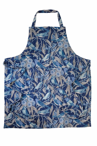 Flowering Gum Blue Pure Linen Apron
