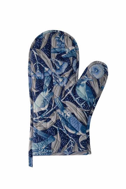 Flowering Gum Blue Pure Linen Oven Mitt