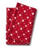 Pure Linen Table Runner, Polka Nut-Red