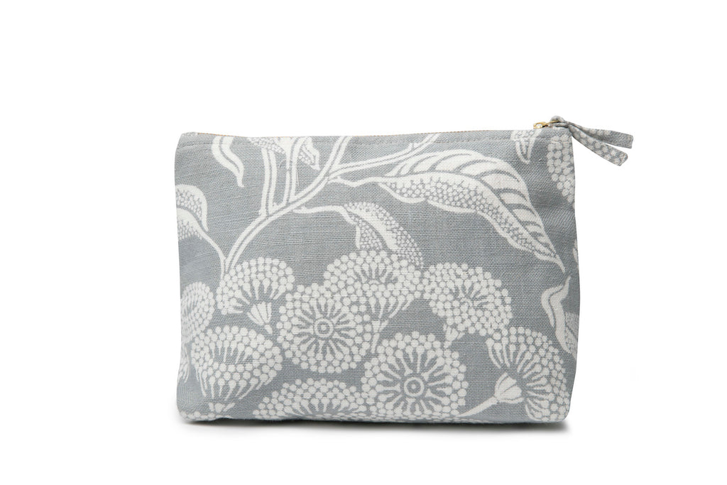 Angophora Grey Pure Linen Wash Bag