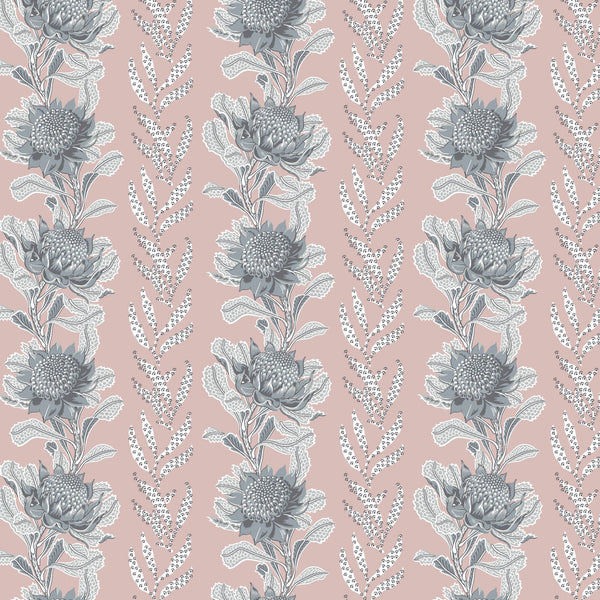 Imperial Waratah Pink Wallpaper