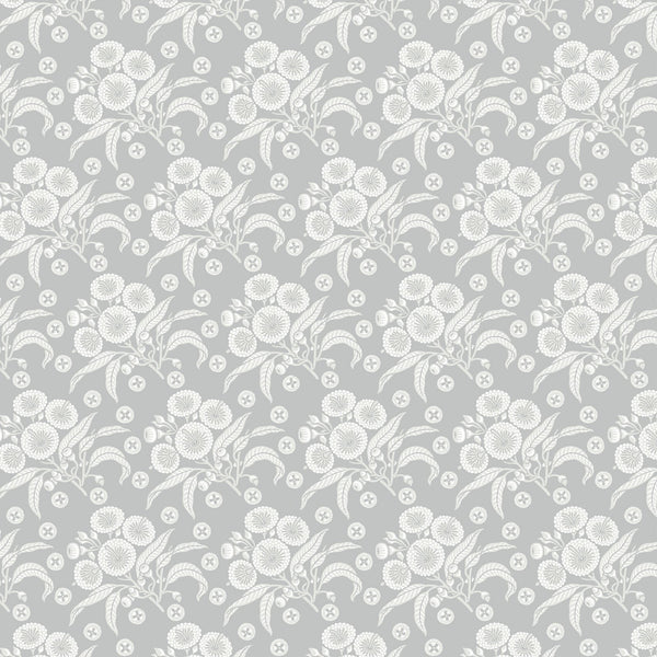 Native Posy Grey Wallpaper