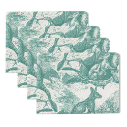 Wallaby Sea Green Placemats (set of 4)