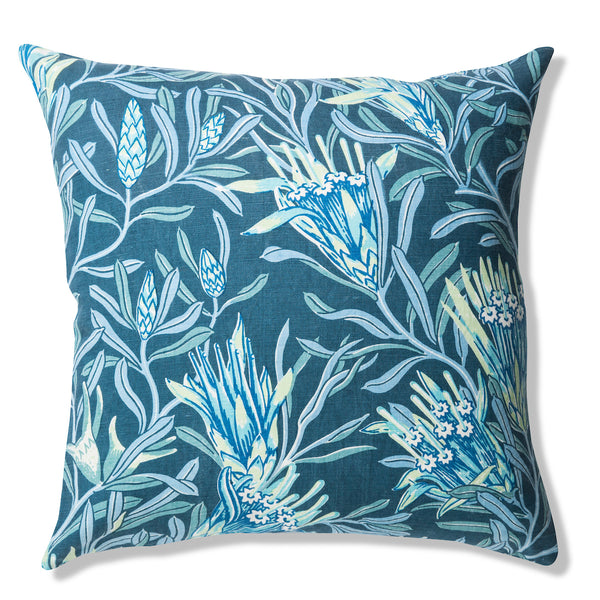 Mountain Devil Teal Pure Linen Cushion Cover 50x50