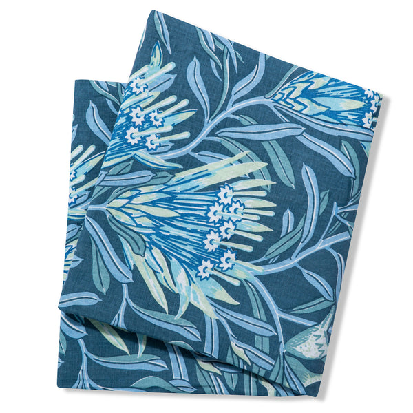 Pure Linen Tablecloths, Mountain Devil Teal
