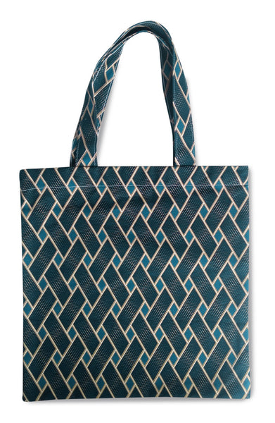 Basket Case Indigo Canvas Tote