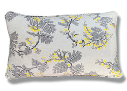 Black Wattle Linen Cushion Cover - 30 x 50