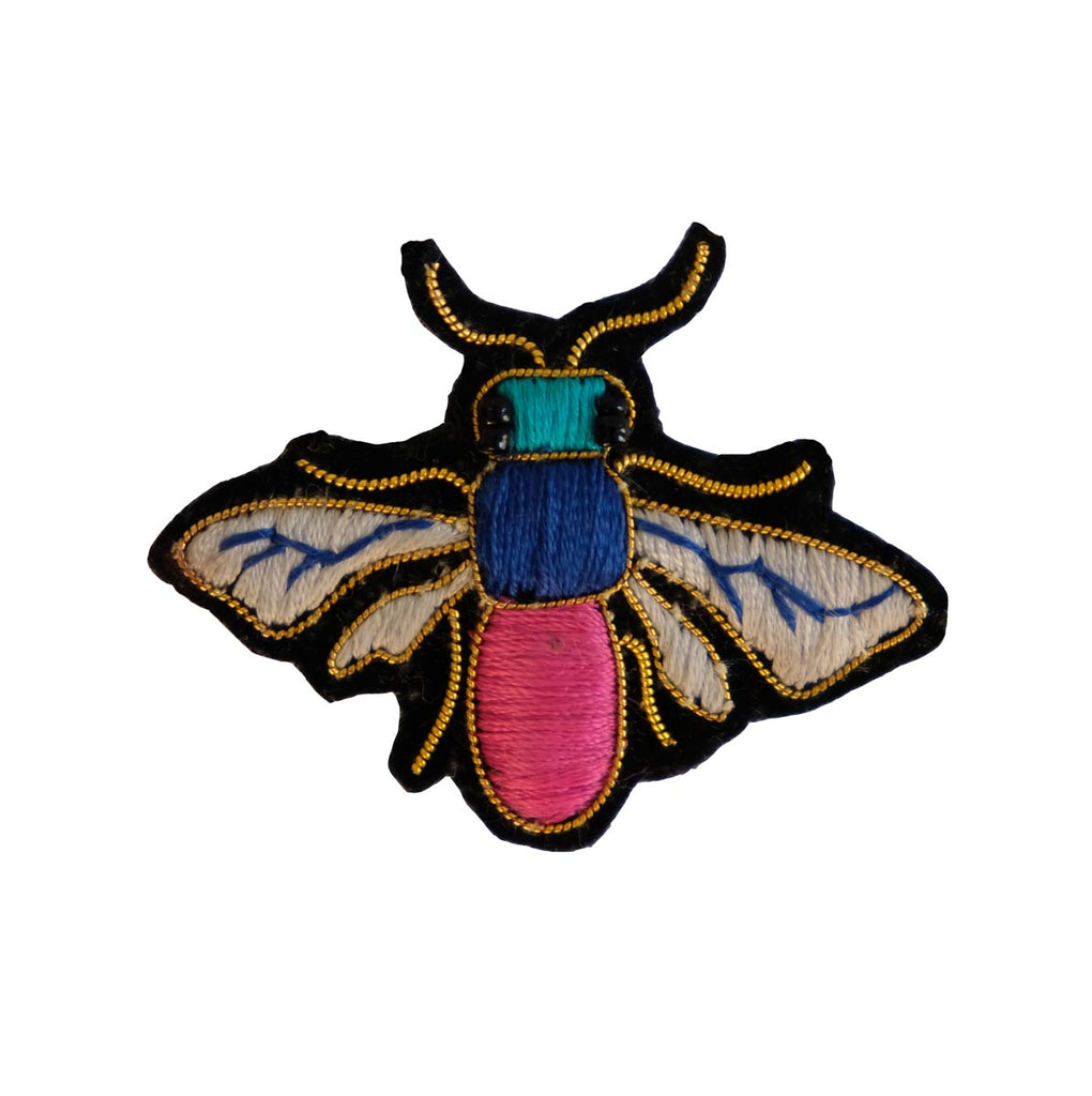 Coloured Pinka-Blow-Fly Brooch