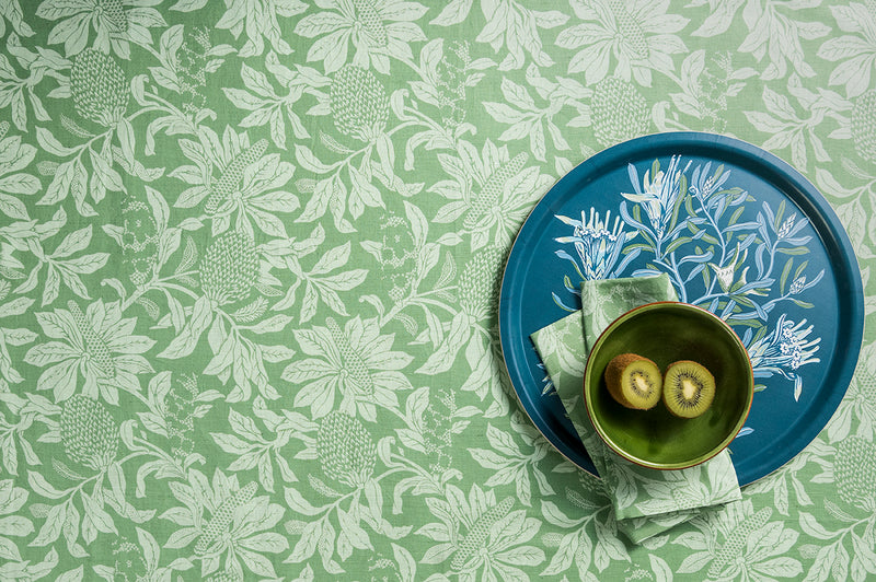 Banksia Green Tablecloth