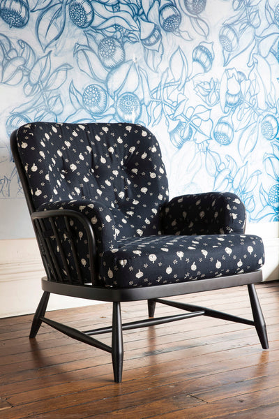 Polka Nut Indigo Ercol Chair - Sale Price $1,100 (Reduced from $1,700)