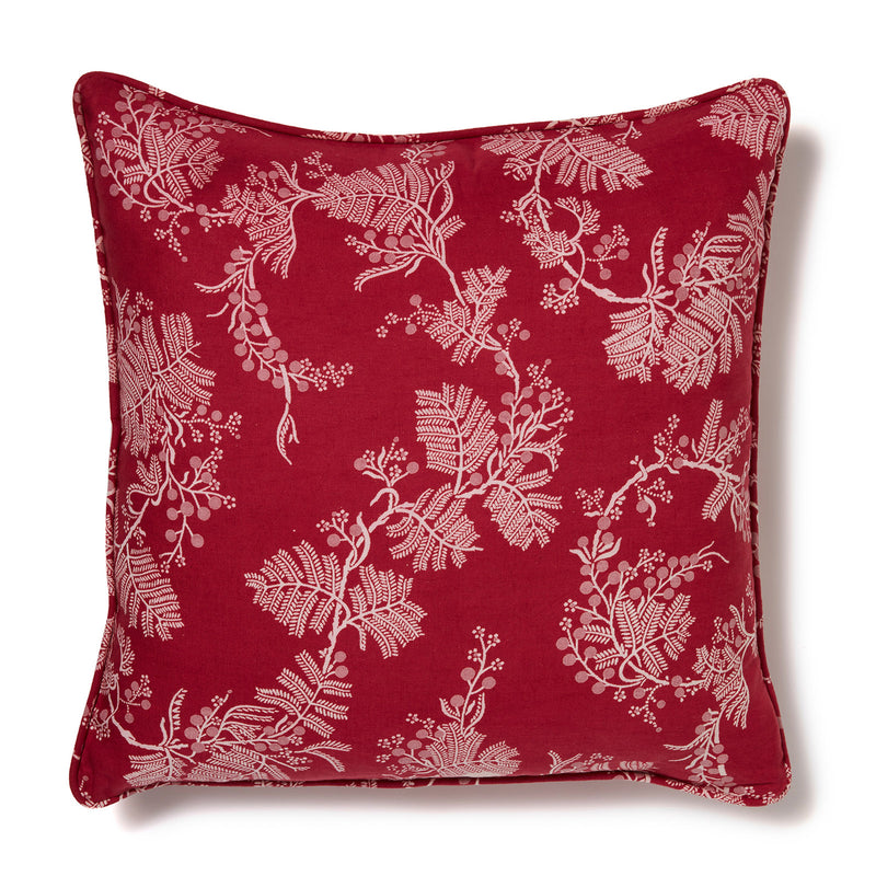 Wattle Raspberry 50x50 Cushion Cover