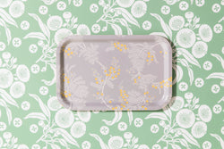 Black Wattle Grey Rectangle Tray 21/33cm